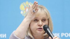 Ella Pamfilova, centrala valkommissionens ordförande i dumavalet 2016.