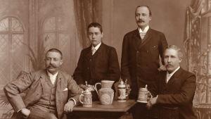 Bryggerimästare från Sinebrychoff i slutet av 1800-talet