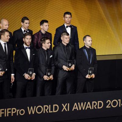 Årets lag i världen 2014, under Ballon d'Or-galan 2015
