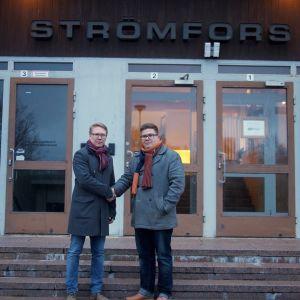 Sami Vekkeli och Vesa-Matti Marjamäki i Strömfors