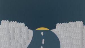 """""""Kaamos""""; första bilden i emoji-julkalendern"""