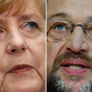 Angela Merkel och Martin Schulz