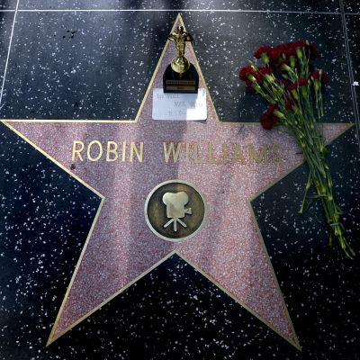Robin Williams stjärna på Hollywood Boulevard.