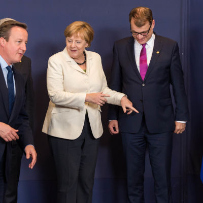 David Cameron, Angela Merkel och Juha Sipilä