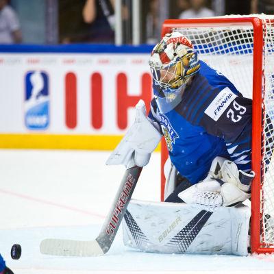 Harri Säteri vaktade Finlands mål mot USA.