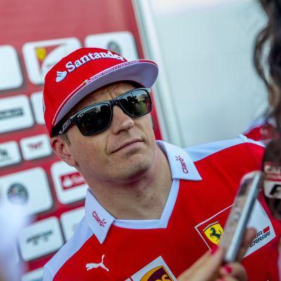Kimi Räikkönen Austinin F1-osakilpailussa
