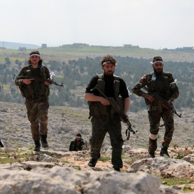 Rebeller från den Fria syriska armén utgör spjutspetsen i Turkiets offensiv mot Afrin