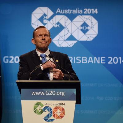 Australiens premiärminister tony abbott
