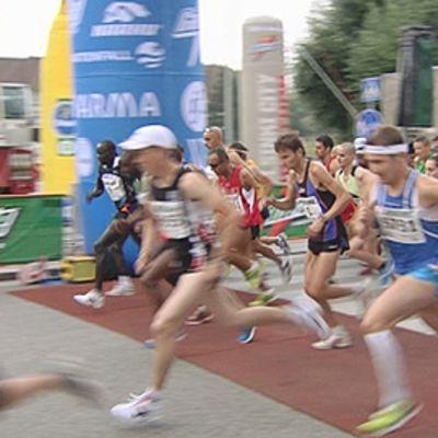 Juoksijoita Helsinki City Marathonilla