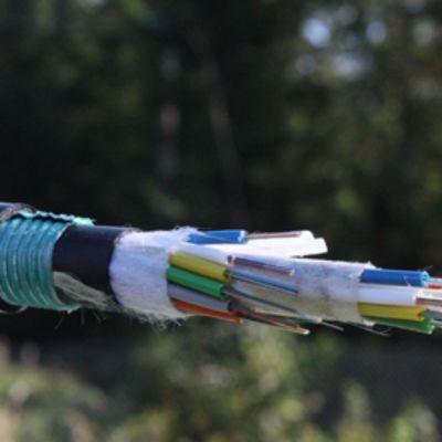 Musta kaapeli, jonka sisässä paljon eristeitä, joissa valokuitujohtimia. Nopeat verkkoyhteydet ovat yhä tärkeämpiä toimintojen siirtyessä tietoverkkoihin. Valokuitu on  paras kanava nopeaan tiedonsiirtoon.