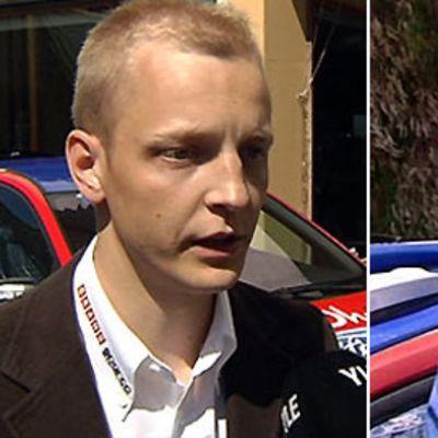 Mikko Hirvonen ja Jari-Matti Latvala