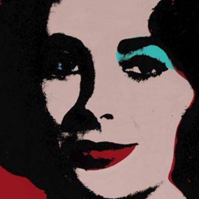 Andy Warholin maalaama muotokuva Elisabeth Taylorista.