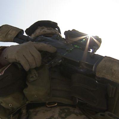 Rauhanturvaaja Afganistanissa.