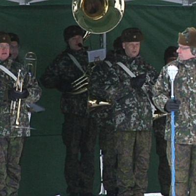 Satakunnan sotilassoittokunta Niinisalossa vuonna  2012.