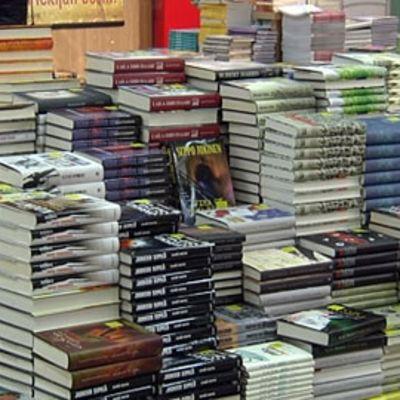 Kirjapino kirjakaupassa