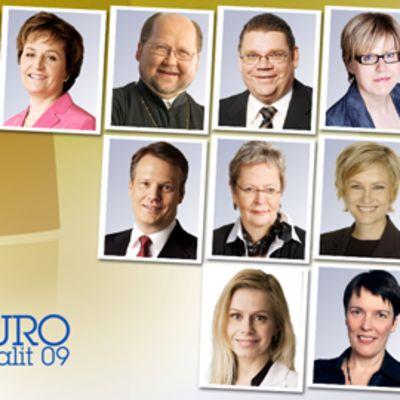 Valitut Suomen europarlamentaarikot.