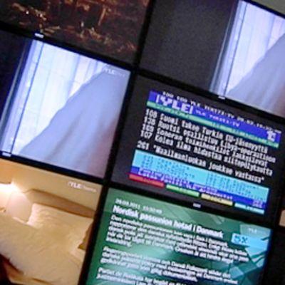Ylen eri kanavia taulu-tv-laitteissa