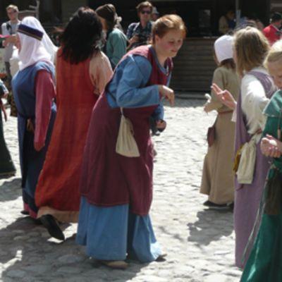 Keskiaikaiset markkinat Turussa.
