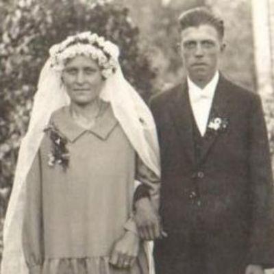 Hääpari 1930-luvulla Eurajoella.