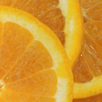 Appelsiinin lohkoja.