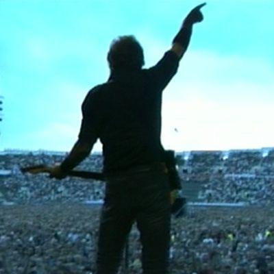 Bruce Springsteen esiintymässä.