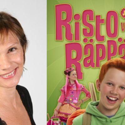 Ohjaaja Mari Rantasila (kuvalähde: Kinotar) ja Risto Räppääjä ja viileä Venla-juliste (graafinen suunnittelu: Vesa Lehtimäki).
