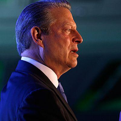 Al Gore luennoimassa ilmastonmuutoksesta