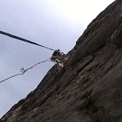 Kiipeilijän näkymä ylöspäin