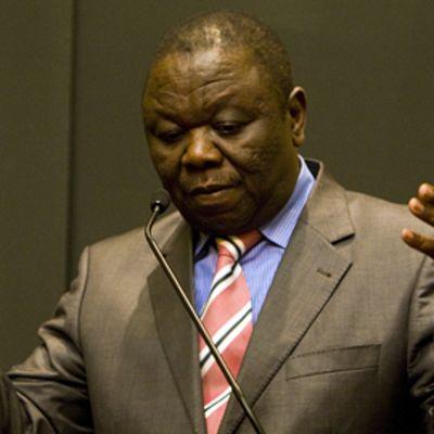 Zimbabwen pääministeri Morgan Tsvangirai lehdistötilaisuudessa 20. helmikuuta 2009.