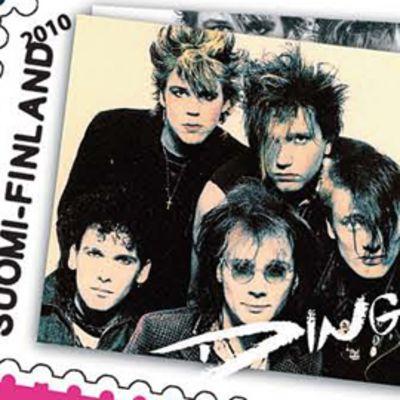Vuoden 2010 postimerkki, jossa on kuva Dingo-yhtyeestä.