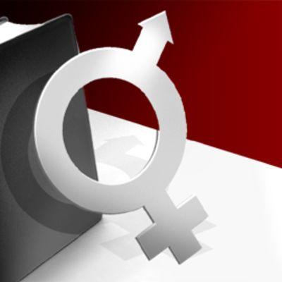 Raamattu ja miehen ja naisen symbolit