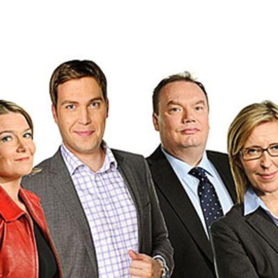 Ylen tv-vaaliohjelmat juontavat Kirsi Skön, Jan Andersson, Petri Kejonen ja Riikka Uosukainen.