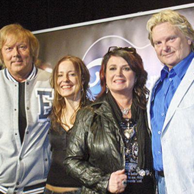 Iskelmä-Finlandia -ehdokkaat Danny, Mariska, Meiju Suvas ja Pepe Willberg.