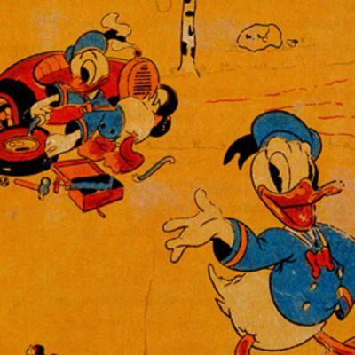 Aku Ankka -tapetti oli Sanduddin mallistossa jo 1947, eli vuosia ennen kuin lehti alkoi ilmestyä Suomessa.