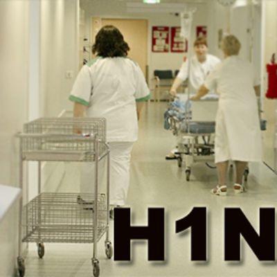 Sairaalan käytävä.