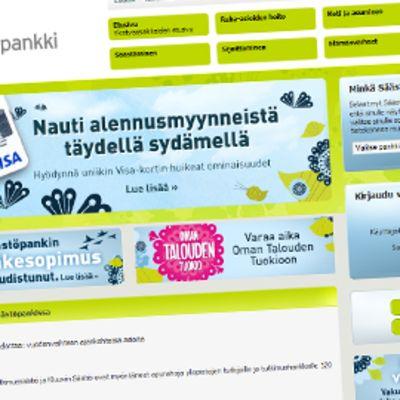 Säästöpankin www-sivu.