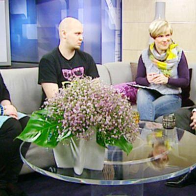 Annika Saaristo, Dan Koivulaakso ja  Wille Rydman