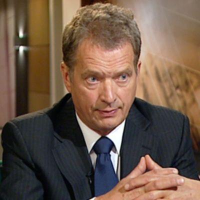 Eduskunnan puhemies Sauli Niinistö