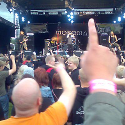 Mokoma Kokkola Rockin lavalla 2009.