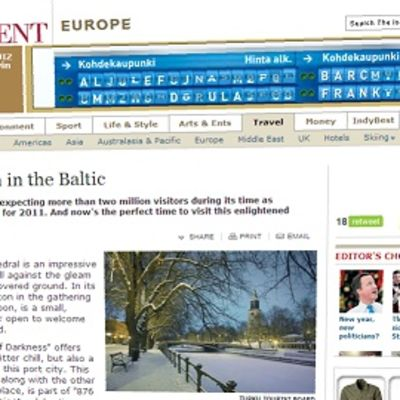 The Independent -lehti kehuu Turkua laajassa artikkelissaan.