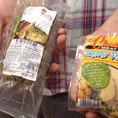 Kasviskinkku ja -kalkkuna eivät tietenkään sisällä lihaa. Tuotteet tuodaan Hollannista ja Iso-Britanniasta.