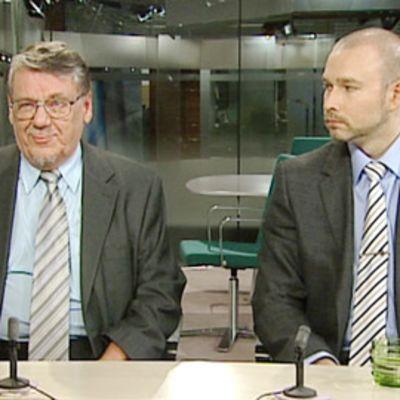 Viljo Savolainen (vas.) ja Janne Makkula