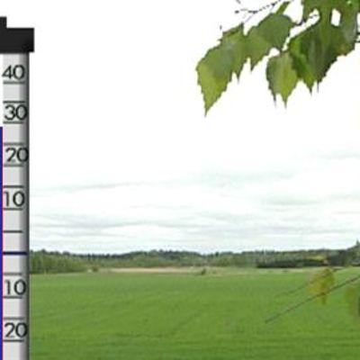 Lämpömittari näytti melkein 30 astetta