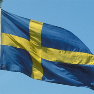 Kuvassa Ruotsin lippu salossa.
