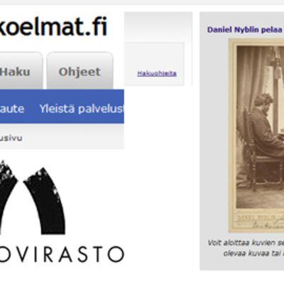 Kooste museoviraston kuvakokoelma-sivustosta.