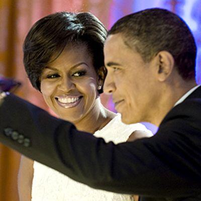 Michelle ja Barack Obama Valkoisessa Talossa 21.7.2009.