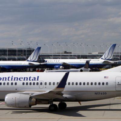 Continental Airlinesin kone O´Haren kansainvälisellä lentokentällä Chicagossa USA:ssa.
