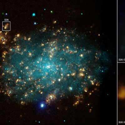 Chandran kuva mustan aukon purkauksesta