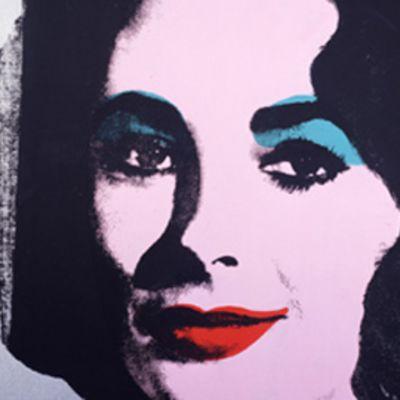 Andy Warholin maalaama muotokuva Elisabeth Taylorista