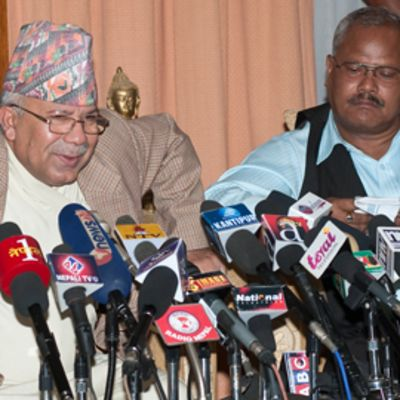 Nepalin väistynyt pääministeri Madhav Kumar Nepal